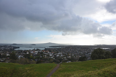 Rangitoto Island from Mount Dobson