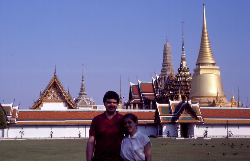 Rob and me at the Grand Palace, or Wat Phra Kaew