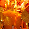 Dressing the Gold Buddha In Wat Phanan Choeng Ayutthaya