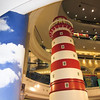 The Lighthouse on the Caribbean floor looking up in Terminal 21, Bangkok.