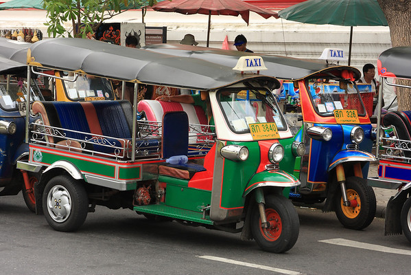 Colorful Tuk Tuk's, the local taxis