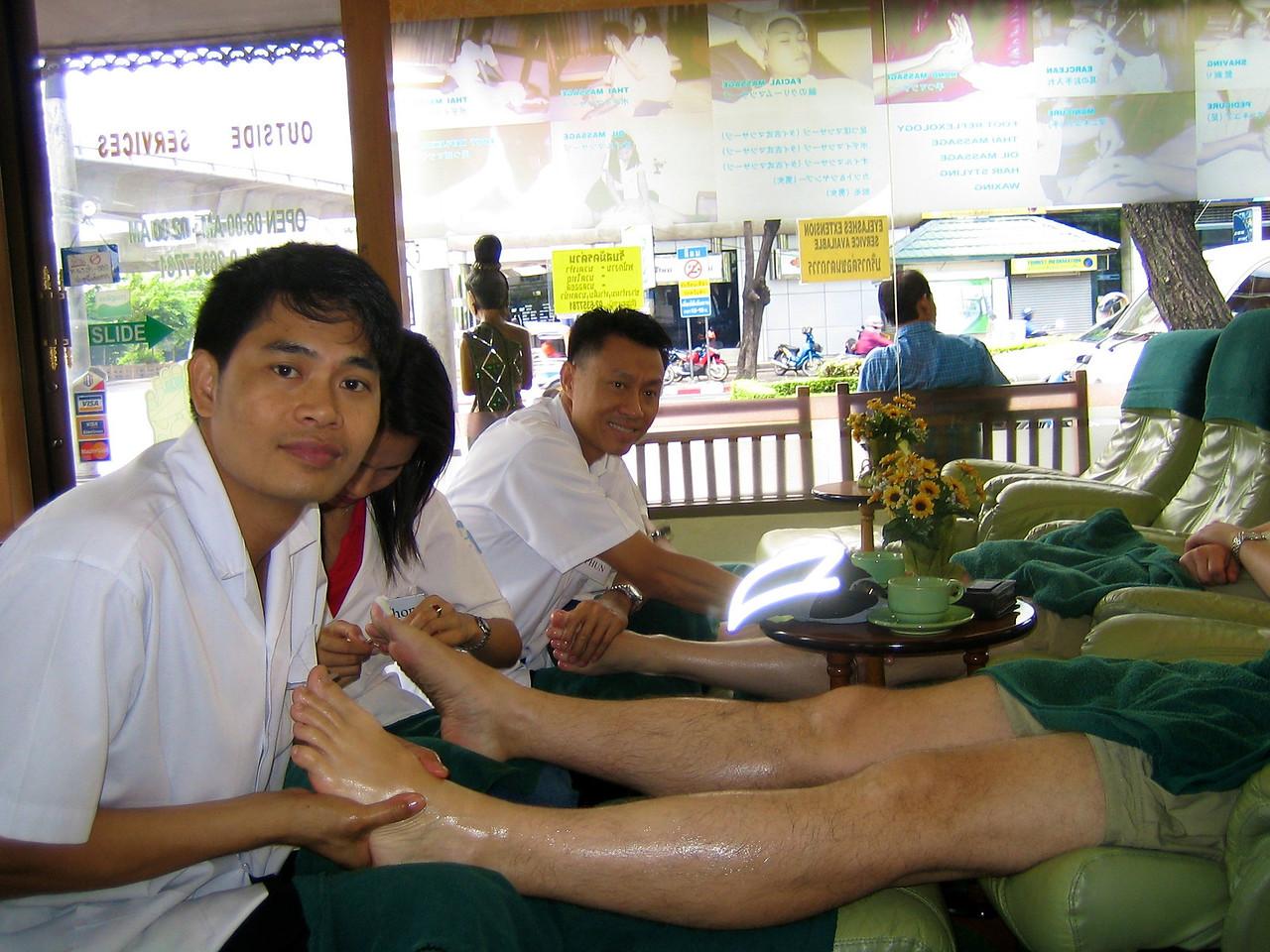 Bangkok July 2005 Foot massage