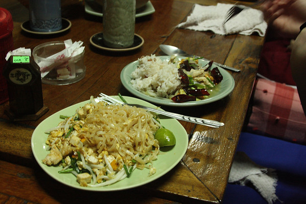 Thai Cooking School - Our pad thai and chicken