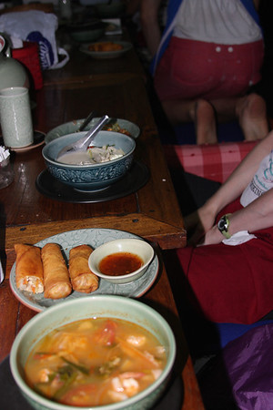 Then we made soup and spring rolls