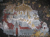 Painting along the walls of Hor Phra Gandhararat