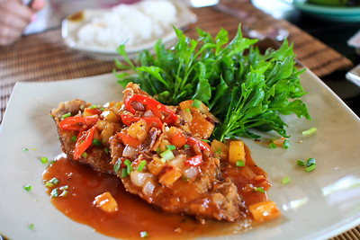 Thai fried red snapper