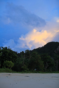 Sunset clouds behind Lana bay, Koh Phi Phi Don