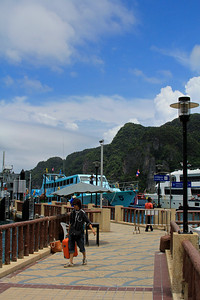 Tonsai Bay Pier - this is where the ferry drops you off on Koh Phi Phi