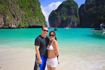Grace and I on Maya Bay