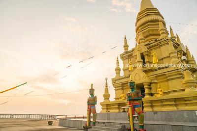 Buddhist pagoda on shore at Koh Samui