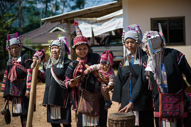 Akha hill tribe village - the band was tuning up...