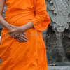 Buddhist Monk in Saffron Robe