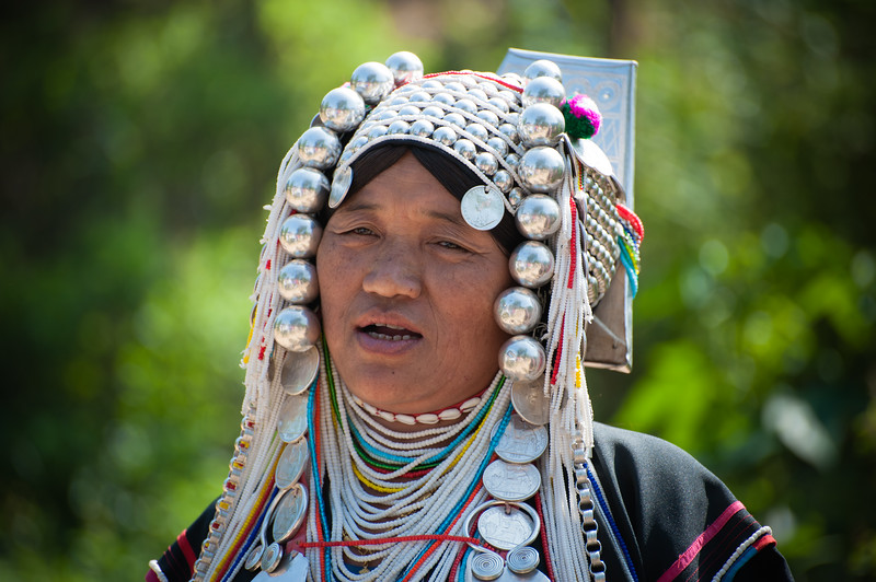 Akha hill tribe village