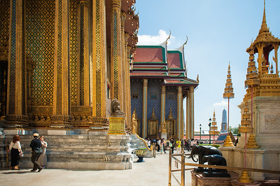 The buildings seem to go on forever.  (See the temple way out in the distance - still part of the Grand Palace).