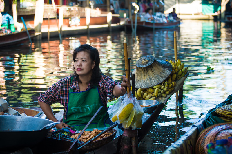 Bangkok Floating Market - cooked meals from this lady