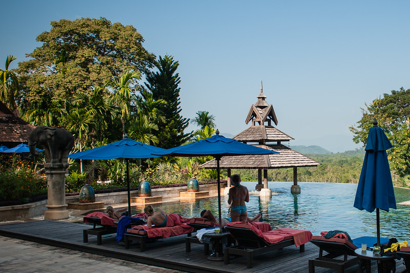 This awesome hotel also had an infinity pool overlooking Thailand and Laos.