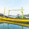 Fishing boats moored on Bang Kao beach