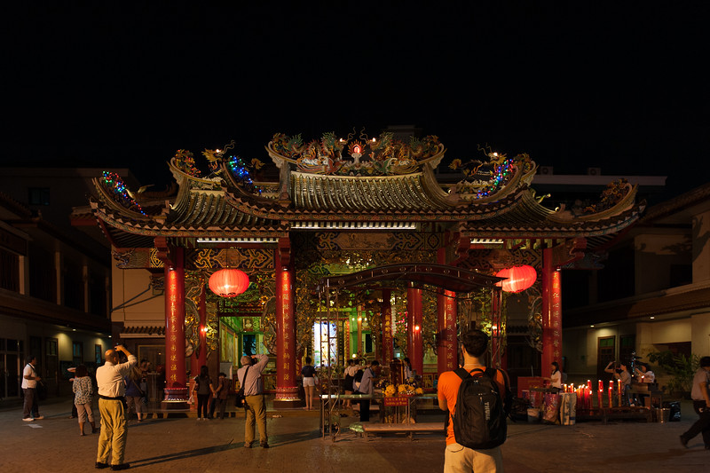 Chinese temple in Bangkok's Chinatown district