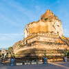 Wat Chedi Luang temple remains in  old city of Chiang mai