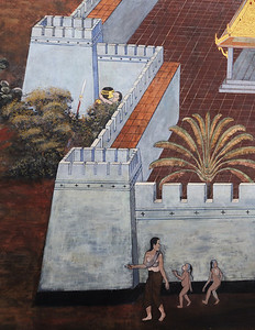 Wall paintings, Grand Palace, Bangkok, Thailand
