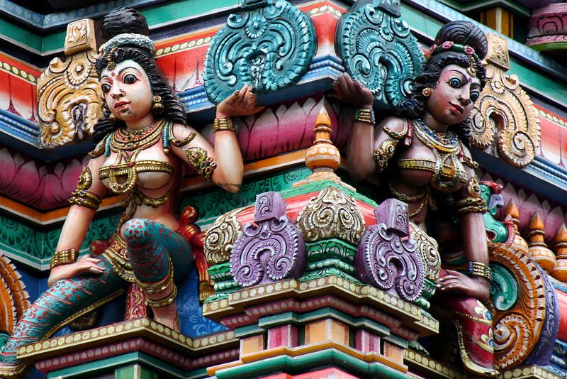 Hindu deities, Sri Mariamman Temple, Silom Road, Bangkok.