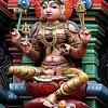 Hindu deity, Sri Mariamman Temple, Silom Road, Bangkok.