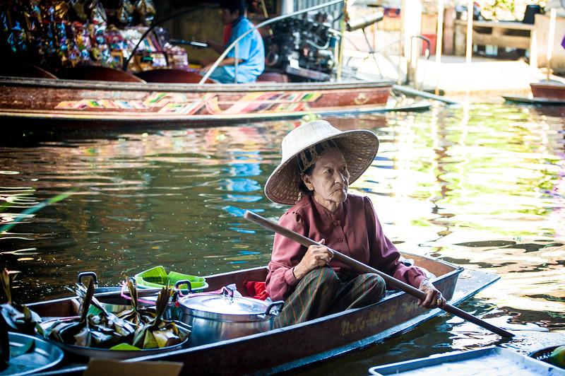 Bangkok Floating Market - some kind of meal wrapped in banana leaves.