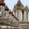 Stairs, balusters and shrine, Wat Arun, Bangkok.