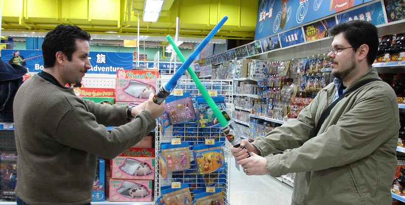 You can do a lot before they throw you out of a Toys R Us.