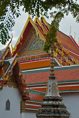 Roof decoration on a Thai Temple