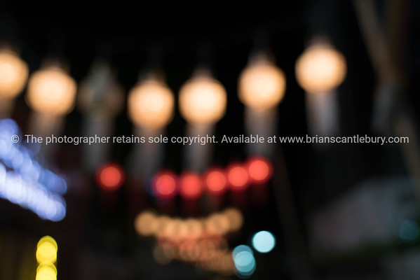 Abstract urban night lights