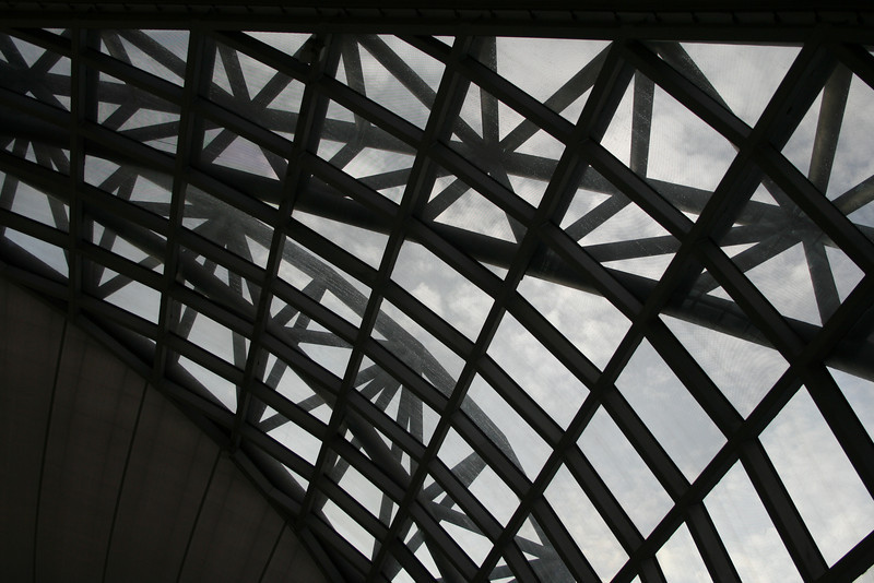 Detail of the terminal roof at Suvarnabhumi Airport, Bangkok - the world's biggest airport.