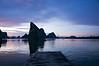 Sunset at Ko Panyi, a floating Muslim village in Phang Nga Bay, Thailand.