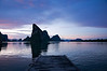 Sunset at Ko Panyi, a floating Muslim village in Phang Nga Bay, Thailand.