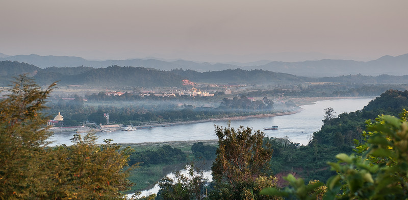 Arriving in Chaing Rai - overlooking Laos on the other side of the Mekong river