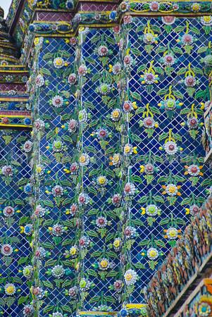 Mosaic decoration in a Thai Temple