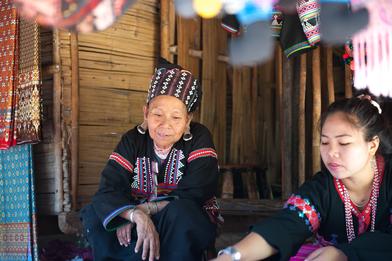 This is the Akha tribe again.  They are into earrings as well.