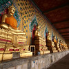 Corridor of Buddha figures, Wat Arun, Bangkok.