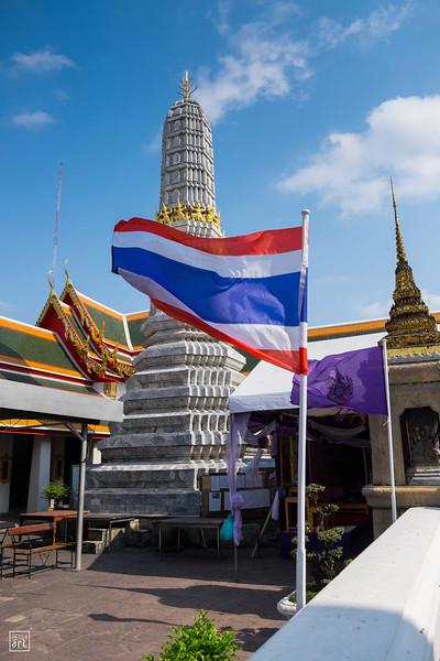 Wat Pho Temple | Thai flag