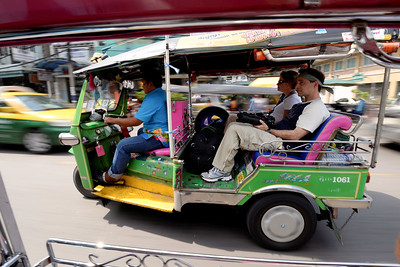 Me in tuk tuk.  It was so hot I dressed like Rambo (or Zoolander)