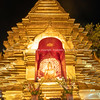 Buddhist shrine finished golden