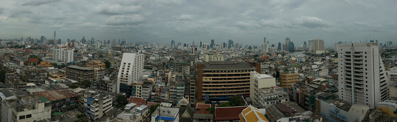 Bangkok viewed from a Chinatown balcony.