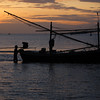 'Fisherman and the dawn' - A fisherman getting ready at dawn for his first trip into the ocean