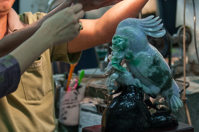 A brief stop at the Jade factory - where we learned about mining, processing, and carving Jade.