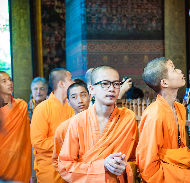 Monk tour groups were visiting as well