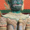 Gateway guardian figure, Grand Palace complex, Bangkok.