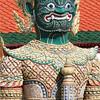 Gateway guardian figure, Grand Palace complex, Bangkok.