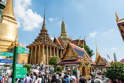Entering the Grand Palace - largest and most sacred