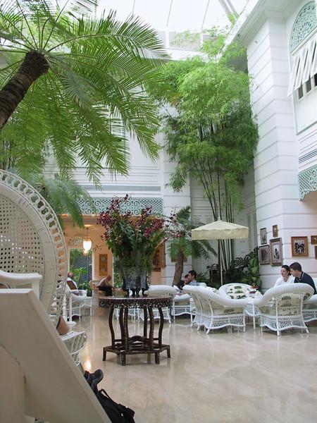 Tea time at the Mandarin Oriental Hotel