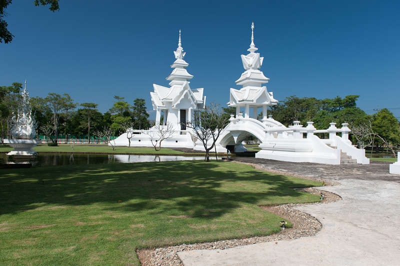 The white temple grounds